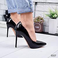 Туфли женские Tiana черный лак 8007