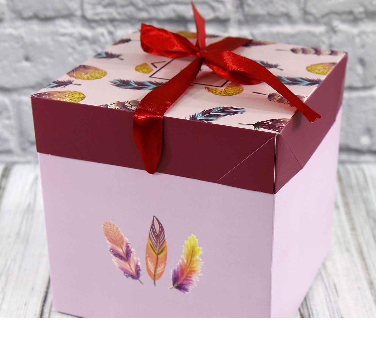 Коробка для пакування подарунків складна (16,5*16,5*16,5 см)