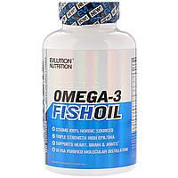 Рыбий жир омега-3 EVLution Nutrition 1250 мг, тройная сила, 120 желатиновых капсул