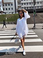 Платье нежное красивое свободного кроя  с кружевом Smdi2294, фото 1