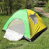 Палатка туристическая дуговая трехместная 200*200 см, фото 1