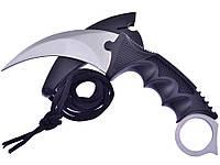 Нож керамбит для Охоты  Серебристый