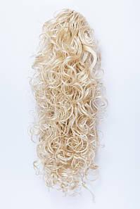 Волнистый шиньон на крабе №7. цвет классический блонд