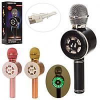 Микрофон X15318 аккум, 24 см, SD слот, USB зарядное, смена голоса, 3 цвета
