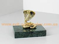 Бронзовая статуэтка Змея (Кобра) на подставке