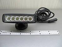Светодиодная фара LED 2218-18W-А flood на магните, фото 1