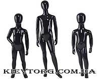 Манекен черный детский аватар глянцевый всех размеров