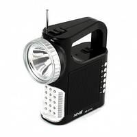 Яркий фонарь-светильник с радиоприёмником NS-073U, SD/USB-кардридер, телескопическая антенна, шнур для зарядки