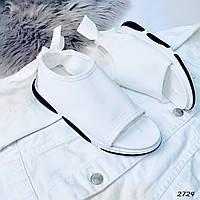Женские спортивные белые босоножки из текстиля 37 ПОСЛЕДНИЙ РАЗМЕР
