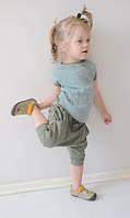 Летний стильный костюм на лето оливкового цвета. Унисекс. Размер: 86 см, фото 1