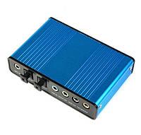 Внешняя USB звуковая аудио карта 6 каналов 5.1