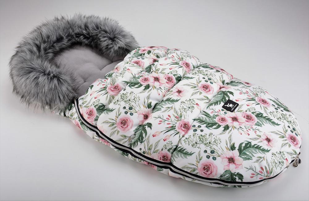 Зимний конверт Cottonmoose Moose  limited softshell (белый цветы)