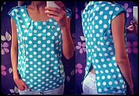 Блузка в горох е-лиса