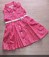 Платье детское с поясом (2-5 лет) Оптом