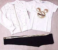Детский спортивный костюм тройка на девочку оптом (4-12 лет)