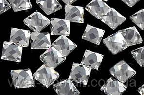 Стразы термоклеевые, Квадрат 4х4 мм, Crystal