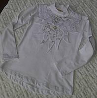 Гольф трикотажный белого цвета для девочки, Турция, рост 116-158 см., 290/260 (цена за 1 шт. + 30 гр.)