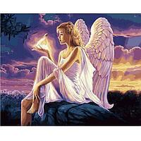 Картина раскраска по номерам на холсте 40*50см Babylon VP1144 Ангел с голубкой