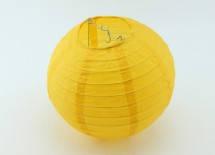 Бумажный шар плиссе  20 см. желтый
