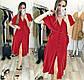 """Женское стильное летнее платье в больших размерах 455-1 """"Софт Пуговицы Завязки"""" в расцветках, фото 4"""