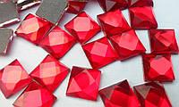 Стразы термоклеевые, Квадрат 8*8 мм, Siam (красные), фото 1