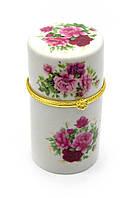 "Футляр для зубочисток ""цветы"" (8х4,5х4,5 см)"