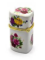 """Футляр для зубочисток """"цветы"""" сердечко (8х4х4,5 см)"""