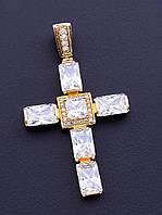 Крестик  'XUPING' Фианит (позолота 18к)