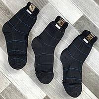 Носки мужские демисезонные х/б Клетка, 25 размер, чёрные, 1960