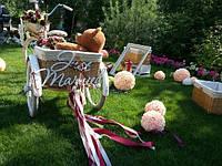 Аренда трехколесного велосипеда на свадьбу