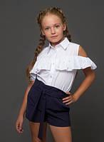 """Блузка для девочки, """"Открытые плечи"""" 152"""
