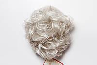 Шиньон-накладка №3.Длинна до 30 см., цвет серый