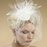 Вуаль шляпная, белый (50 см), фото 3