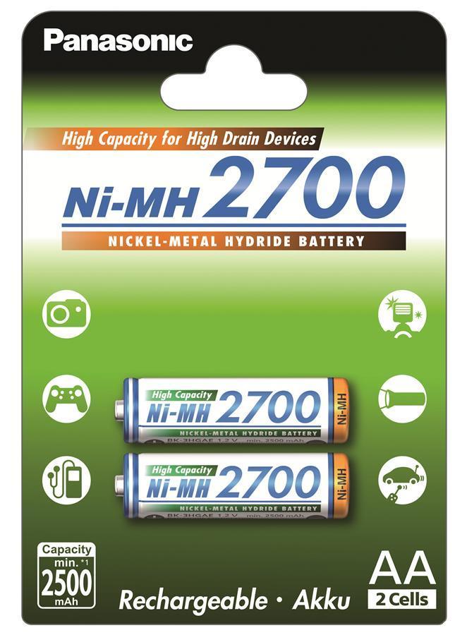 Аккумулятор Panasonic High Capacity AA 2700 mAh 2BP NI-MH 2 шт