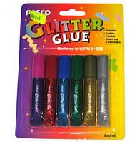 Клей блесками Pasco 10mlх6цветов F-019-07 уп24