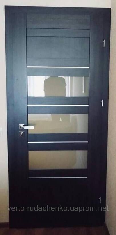 """Двери EcoDoors TERRA 2A в цвете Дуб темный """"Eco-CELL"""""""