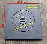 Плита чугунная печная 400х400 мм. мангал, печи, грубу, котлы, фото 1