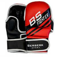 Перчатки для смешанных единоборств 7 oz FIGHTER red BERSERK SPORT размер М