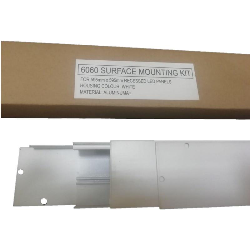 Алюминиевая рамка-переходник для накладного монтажа светодиодных LED панелей 600х600 Surface Kit