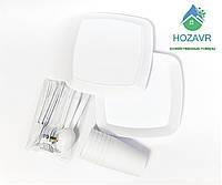 Набор посуды для пикника на 6 персон пластик Plast Art (Турция) белый