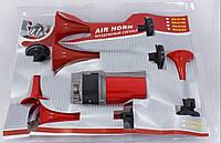 Сигнал автомобильный, воздушный 12 V, 5 дудок красный Сигнал КН-0155