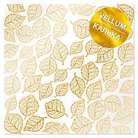 Калька з фольгуванням - Golden Leaves - Fabrika Decoru - 30x30