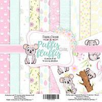 Набір двостороннього паперу - Puffy Fluffy Girl - Fabrika Decoru - 20х20