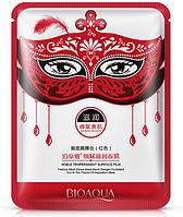 Маска для лица питательная карнавальная красная BIOAQUA Masquerade Nourish Delicate Moisturizing Mask (30г)
