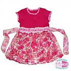 Платье для девочки в цветочек 86-92, 98-104