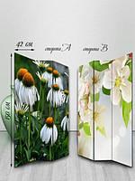 Ширма двусторонняя, Живые цветы