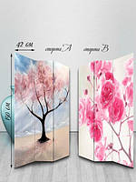 Ширма двусторонняя, Цветы на деревьях