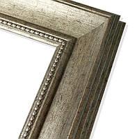 Зеркало в пластиковой рамке из багета 7039-259-К (серебристый)