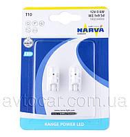 Автолампы Narva Range Power LED-T10 W5W,  0.6W 12V