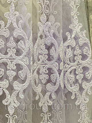 Шикарная тюль шенил белая, фото 2